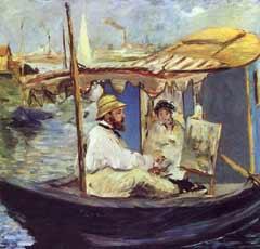 Claude Monet et sa Femme dans Studio Flottant